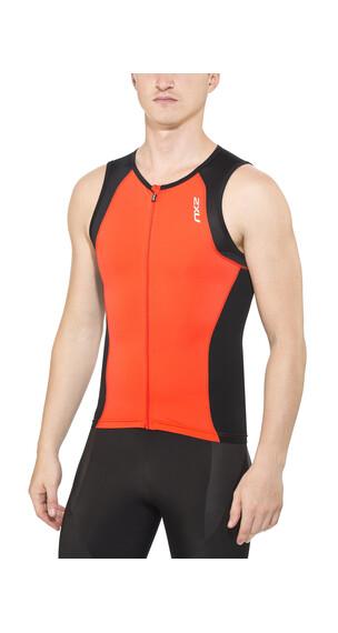 2XU Active - Camiseta Running Hombre - rojo/negro
